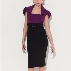 Black Halo Jacket Jackie Sheath Dress purple